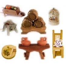 Complementos de madera miniatura