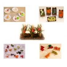 Frutas  verduras y huevos miniatura