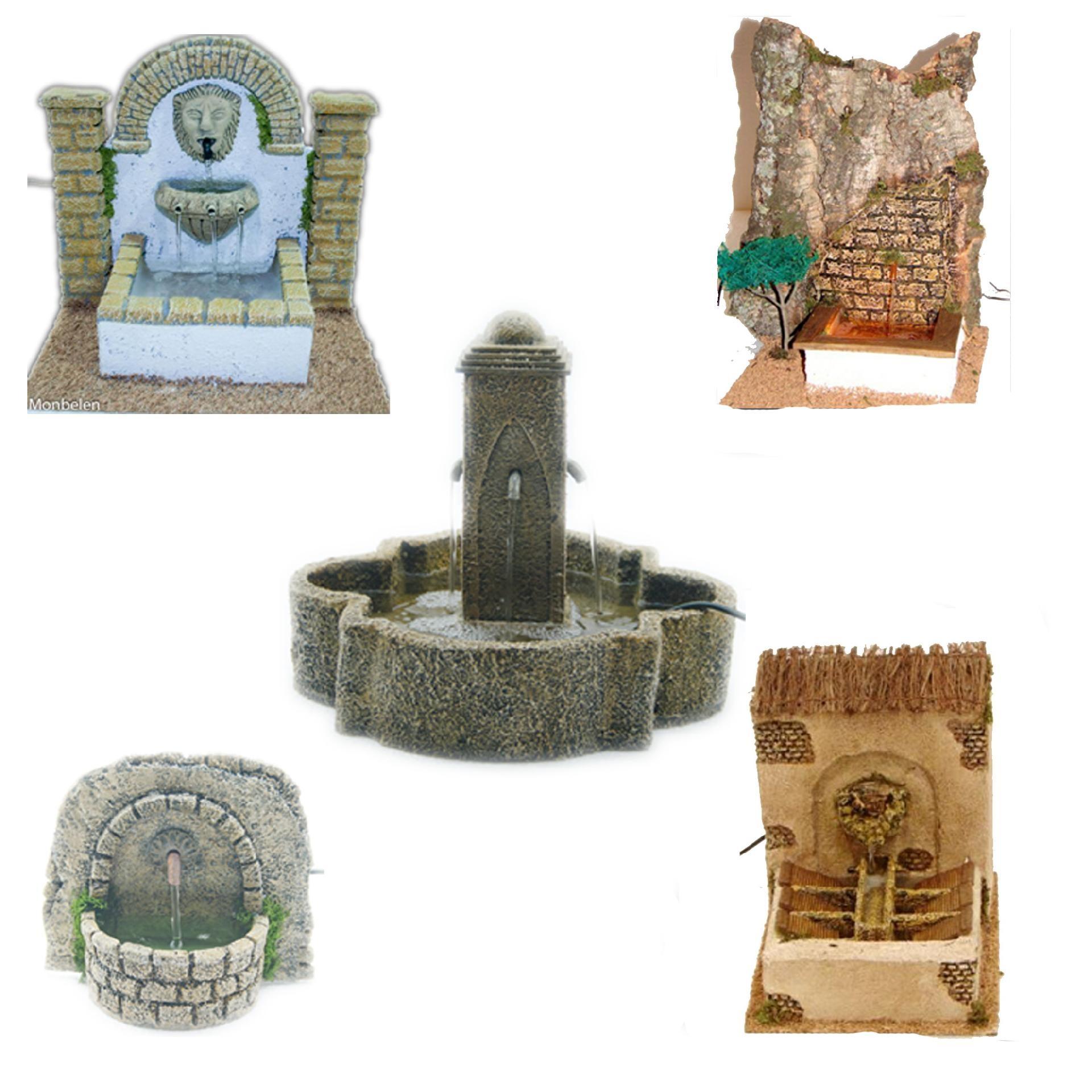 Fuentes miniatura para el belén