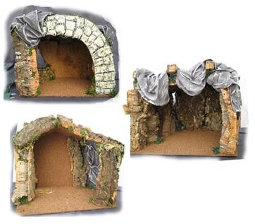Cuevas o Pesebres entelados
