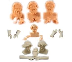 Figuras miniatura de resina para vestir y pintar