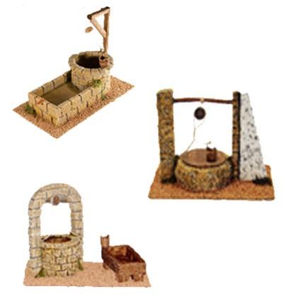 Pozos miniatura para el belén